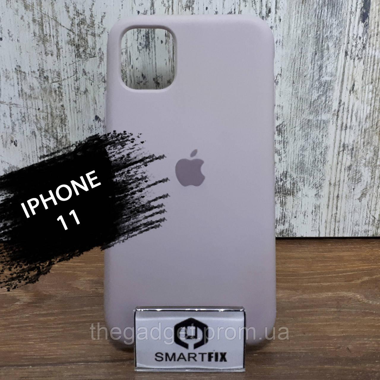 Силиконовый чехол для iPhone 11 Бледно розовый