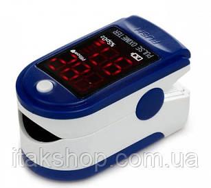 Пульсометр Пульсоксиметр на палец электронный Fingertip Pulse Oximeter LK87