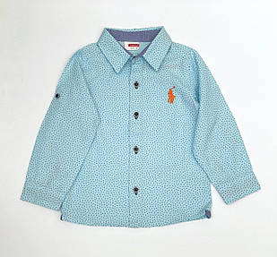 Рубашка для мальчика, размеры 2/3, 3/4, 6/7 л.