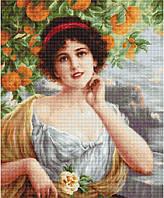 Набор для вышивки крестом Luca-S B546 Красавица под апельсиновым деревом