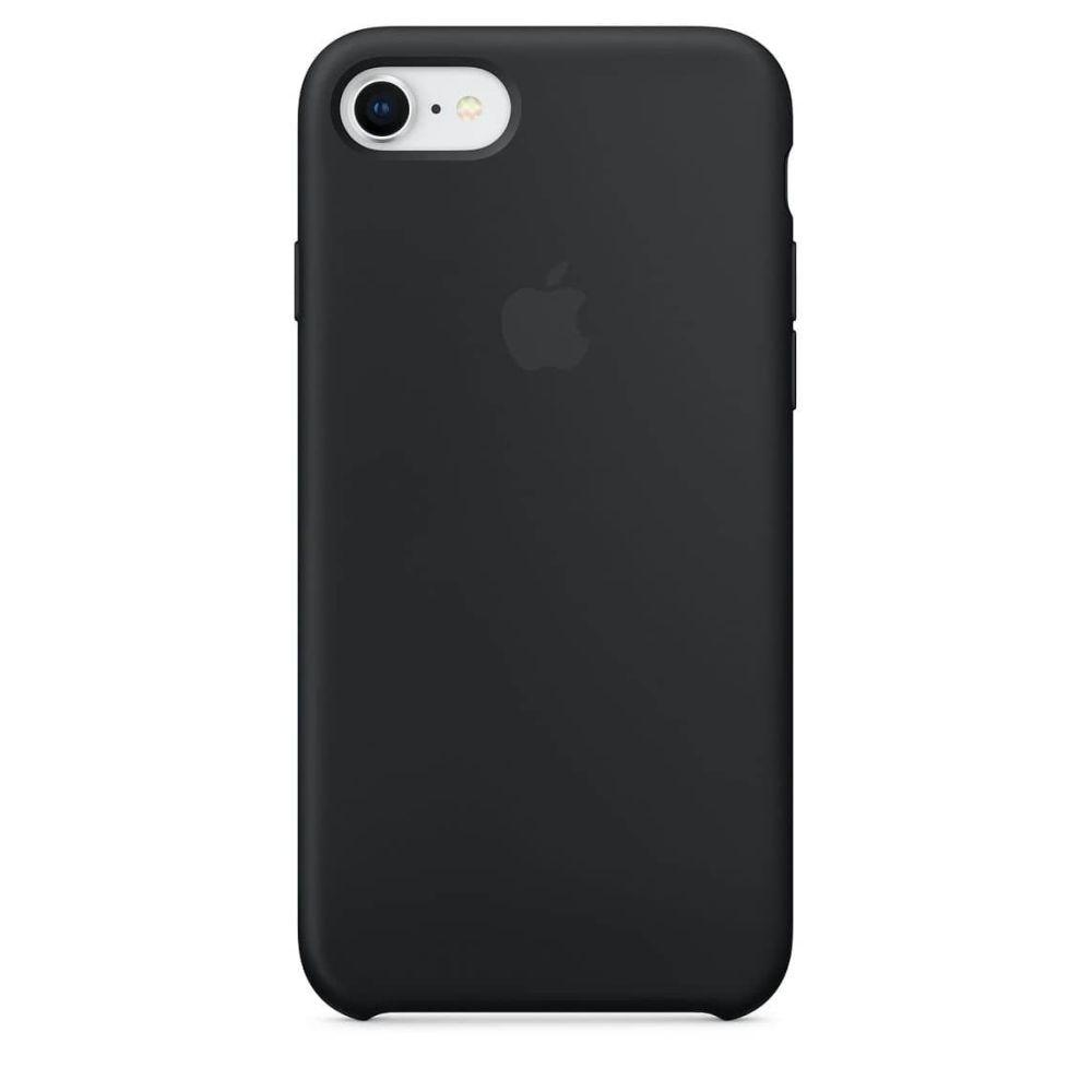 Силиконовый чехол накладка Silicone Case (high copy) iPhone 7 / iPhone 8 / SE 2020  black