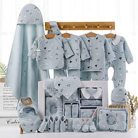 Подарочный набор для новорожденного на 22 предмета Голубой