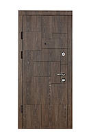 Двери входные металлические Булат К6 850*2050/950*2050 804/ 165 Дуб Шале Корица (верт.вставки