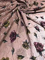 Турецкий палантин в розах и переходом цвета - купить на Kosinka.net