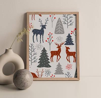 Новогодний плакат Scandinavian Christmas формат А3