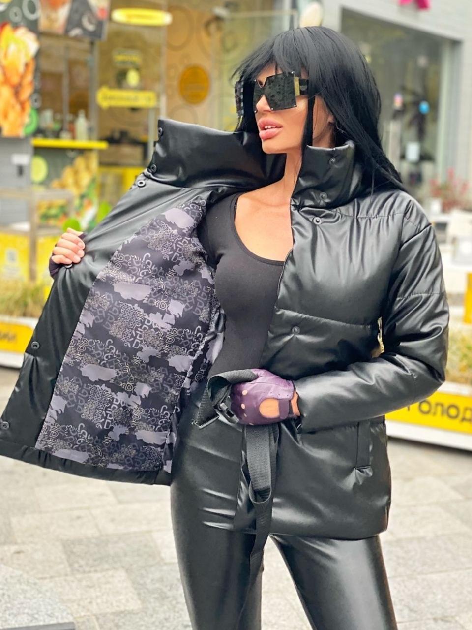 Куртка из эко кожи на синтепоне 150, четыре цвета