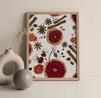 Плакат на стіну Orange Christmas формат А3