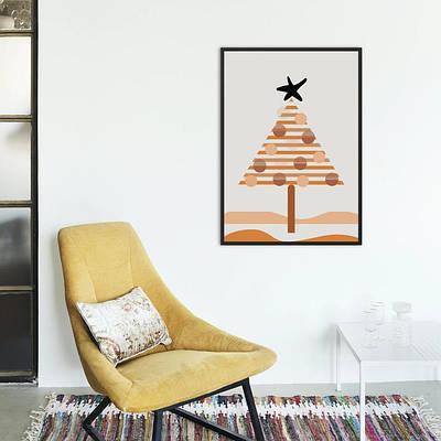 Новогодний плакат Boho Christmas  формат А3