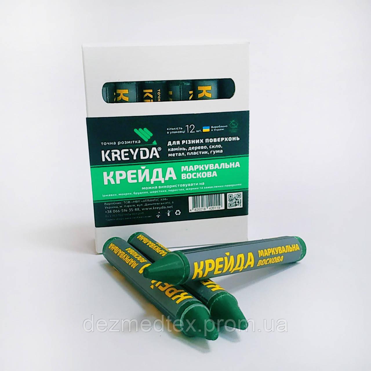 Маркер восковой маркировочный для любой поверхности KREYDA, зеленые
