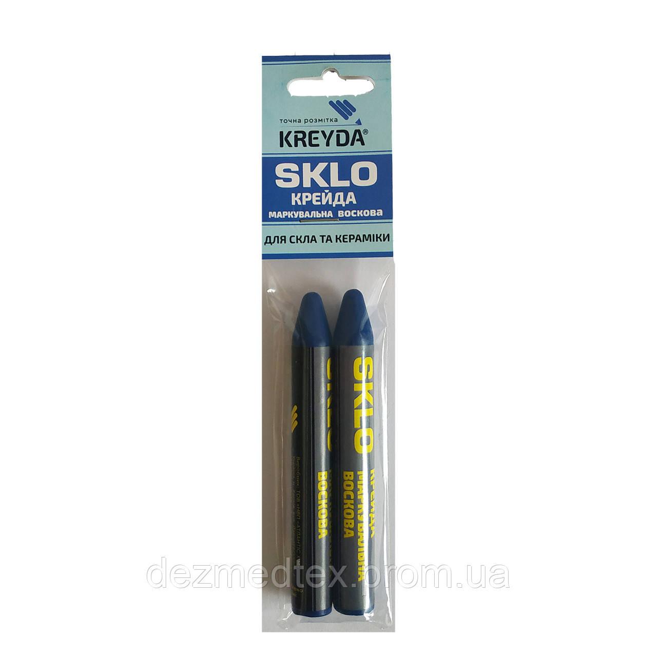 Для Стекла, мел восковой разметочный SKLO (синие)  - 2шт