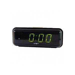 Электронные проводные цифровые часы VST 738 Зелёная подсветка