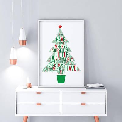 Плакат на стіну Christmas Tree формат А3