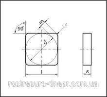 Пластина 03111-120408 4-х гр. ВОК-60 (з червоною крапкою)