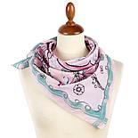 10426-3, павлопосадский платок хлопковый (батистовый) с подрубкой, фото 3