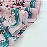 10426-3, павлопосадский платок хлопковый (батистовый) с подрубкой, фото 4