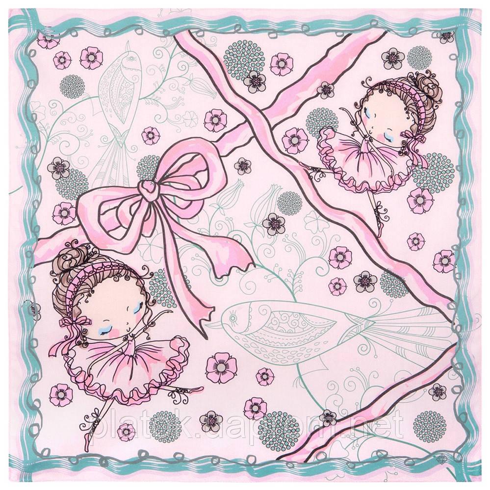 10426-3, павлопосадский платок хлопковый (батистовый) с подрубкой