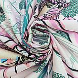 10426-3, павлопосадский платок хлопковый (батистовый) с подрубкой, фото 9