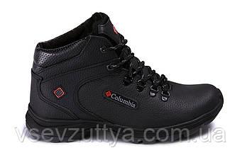 Кросівки шкіряні зимові чорні чоловічі 40р