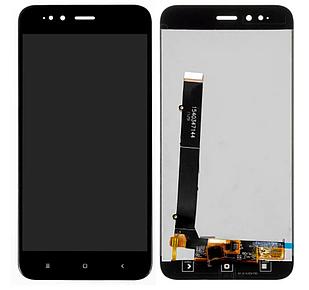 Модуль для Xiaomi Mi 5X, Mi A1, черный, дисплей + сенсор