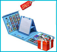 "Набор для рисования детский ""Чемодан творчества 208 предметов"" , набір для малювання, для детей синий"