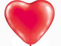 """1105-0016 - Сердце 10"""" Пастель красное"""
