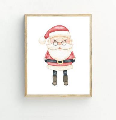 Новогодний плакат Santa Claus формат А3