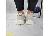 Дутики ботинки зимние на меху белые К2343, фото 8