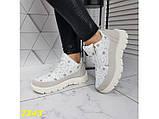 Дутики ботинки зимние на меху белые К2343, фото 6
