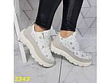 Дутики ботинки зимние на меху белые К2343, фото 2