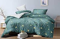 Постельный комплект из сатина Звезды  на бирюзовом, хлопок 100%