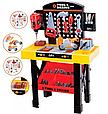 """Детский набор инструментов """"Моя мастерская"""" 0447 , Верстак, лоток, молоток, пила, болты, ключи, фото 2"""