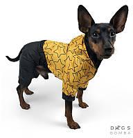 Дождевик для собак звёзды контур черные штаны DogsBomba