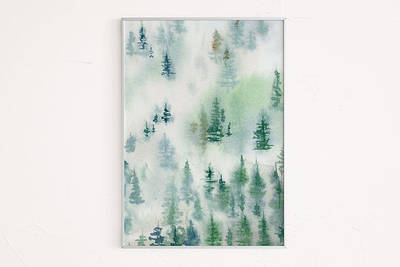 Новорічний плакат Forest формат А3