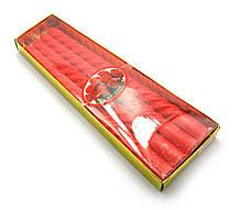Свечи красные витые набор 4 шт