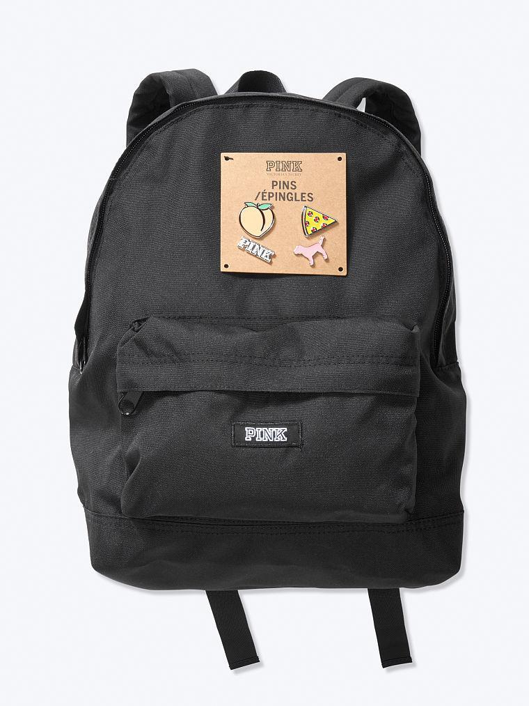 Рюкзак Victoria's Secret PINK спортивная сумка art123411 (Черный, средний)