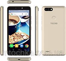 Телефон TECNO POP 2F (B1F) 1/16GB Champagne Gold   (официальная гарантия)