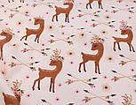 """Лоскут ткани """"Косули и стрелы"""", фон бежевый, № 2669, размер 24*160 см, фото 5"""