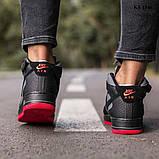 Nike Air Force 1 Black\Grey\Red (черно/красные) cas, фото 5