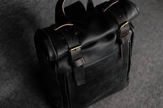 """Чоловічий Рюкзак """"Hankle H7"""" Вінтажна шкіра Чорний + Кави, фото 2"""