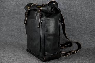"""Чоловічий Рюкзак """"Hankle H7"""" Вінтажна шкіра Чорний + Кави, фото 3"""