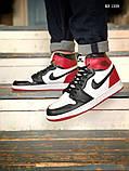 Nike Air Jordan 1 Retro High (черно/белые/красные) cas, фото 2