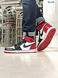 Nike Air Jordan 1 Retro High (черно/белые/красные) cas, фото 5