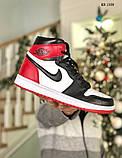 Nike Air Jordan 1 Retro High (черно/белые/красные) cas, фото 7