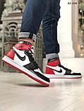 Nike Air Jordan 1 Retro High (черно/белые/красные) cas, фото 8