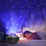 Цветной светодиодный проектор звездного неба музыкальный ночник, фото 2
