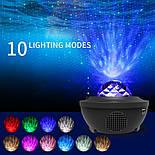 Цветной светодиодный проектор звездного неба музыкальный ночник, фото 3