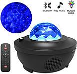 Цветной светодиодный проектор звездного неба музыкальный ночник, фото 10