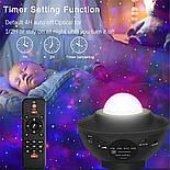 Цветной светодиодный проектор звездного неба музыкальный ночник, фото 4