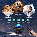 Цветной светодиодный проектор звездного неба музыкальный ночник, фото 7