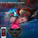 Цветной светодиодный проектор звездного неба музыкальный ночник, фото 5